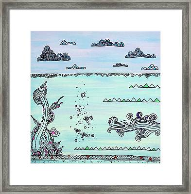 Under And Over Framed Print by Susan Claire