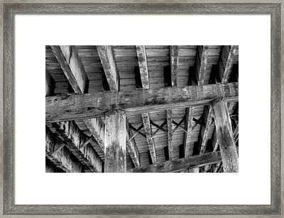 Framed Print featuring the photograph Under The Boardwalk by Matthew Ahola
