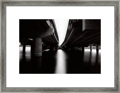 Under The Bridges Framed Print