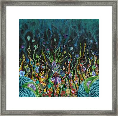 Under The Sea Of Uranus Framed Print