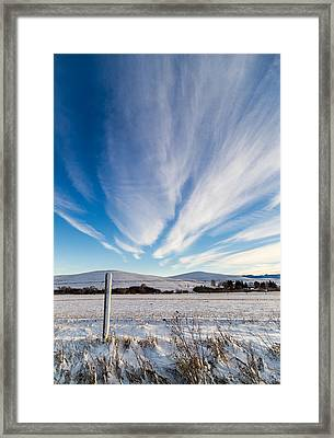 Under Wyoming Skies Framed Print