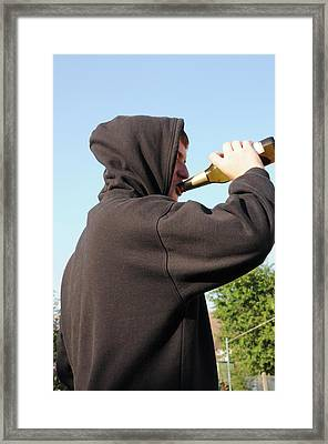 Underage Drinking Framed Print