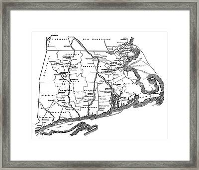 Underground Railroad Map Framed Print