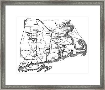 Underground Railroad Map Framed Print by Granger