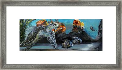 Framed Print featuring the painting Underwater Beauty by Donna Tuten