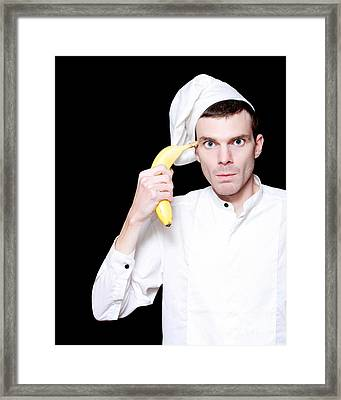 Unhappy Kitchen Cook Under Hospitality Stress Framed Print by Jorgo Photography - Wall Art Gallery