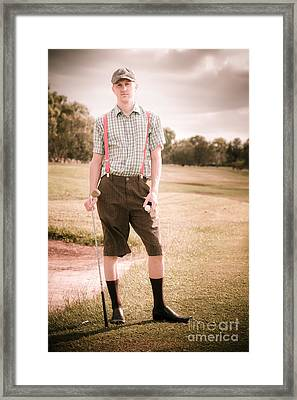 Unhappy Old Fashioned Golfer Framed Print by Jorgo Photography - Wall Art Gallery