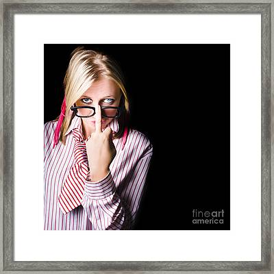 Unhappy Worker Sending A Unsolicited Message Framed Print by Jorgo Photography - Wall Art Gallery