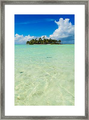Uninhabited Island In The Pacific Framed Print