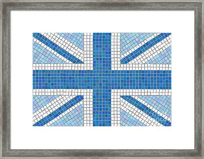 Union Jack Blue Framed Print