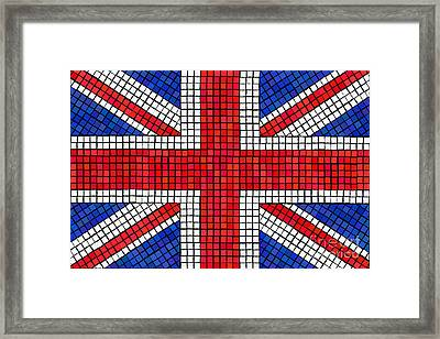 Union Jack Mosaic Framed Print by Jane Rix