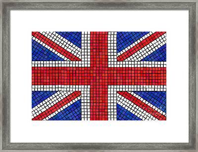 Union Jack Mosaic Framed Print