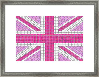 Union Jack Pink Framed Print by Jane Rix
