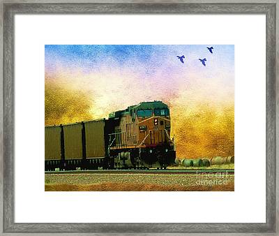 Union Pacific Coal Train Framed Print by Janette Boyd