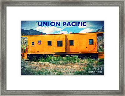 Union Pacific Train Framed Print by Sophie Vigneault