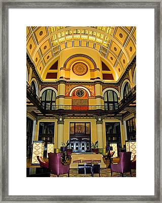 Union Station Lobby Large Size Framed Print