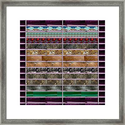 Unique Abstracts Using Multiple Rareearth Stones Crystals Textures And Patterns Framed Print by Navin Joshi