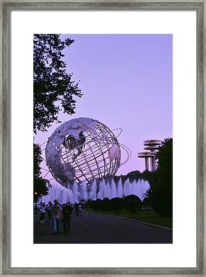 Unisphere 3 Framed Print by Marianne Campolongo