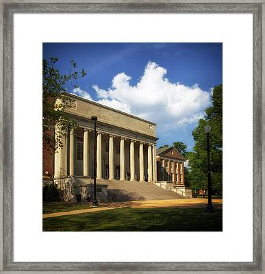 University Of Alabama Library Framed Print by Mountain Dreams