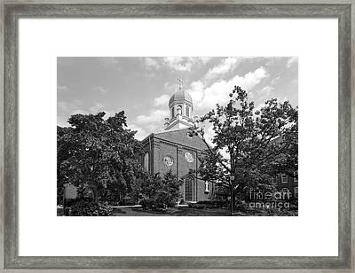 University Of Dayton Chapel Framed Print by University Icons