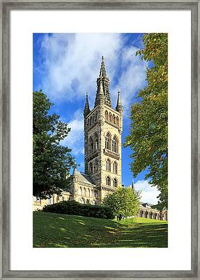 University Of Glasgow Framed Print by Grant Glendinning