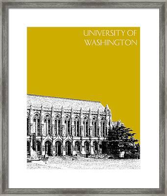 University Of Washington - Suzzallo Library - Gold Framed Print by DB Artist
