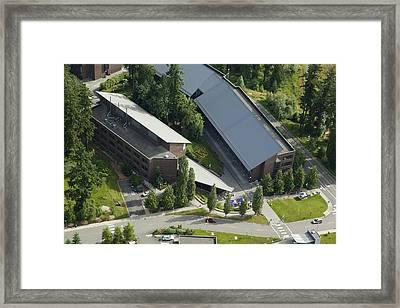 University Of Washingtons Bothell Framed Print by Andrew Buchanan/SLP