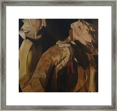 Framed Print featuring the painting Unredeemed by Ron Richard Baviello