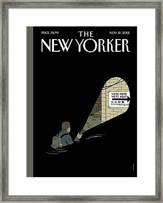 New Yorker November 12th, 2012 Framed Print by Adrian Tomine