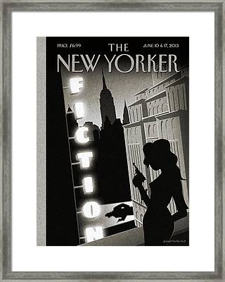 New Yorker June 10th, 2013 Framed Print by Birgit Schossow