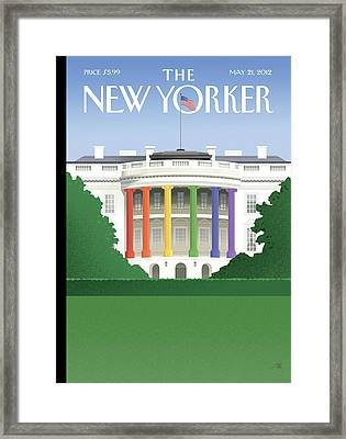 New Yorker May 21st, 2012 Framed Print by Bob Staake