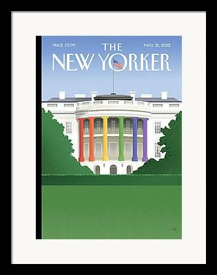 Obama 2012 Framed Prints