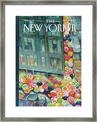 New Yorker April 23rd, 2007 Framed Print by Carter Goodrich