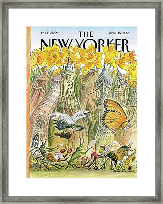 New Yorker April 15th, 2013 Framed Print by Edward Sorel