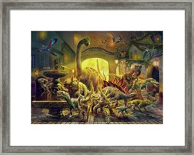 Magical Unicorn Forest Framed Print by Jan Patrik Krasny