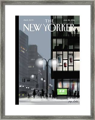 New Yorker January 24th, 2011 Framed Print by Jorge Colombo-Gomes