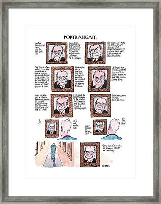 New Yorker March 13th, 2000 Framed Print by Jules Feiffer