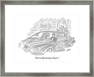 You're Really Starting To Bug Me Framed Print by Kim Warp