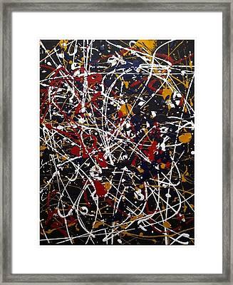 Untitled Pollock Inspired Framed Print by Vanessa Carpenter