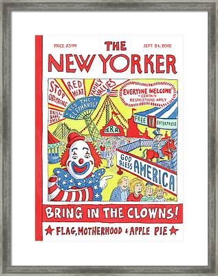 New Yorker September 24th, 2012 Framed Print by Roz Chast