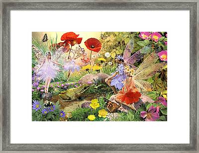 Fairies And Frog Prince Framed Print by Steve Read