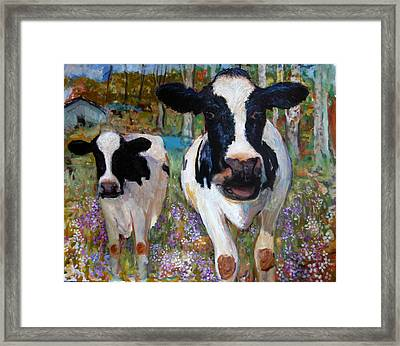 Up Front Cows Framed Print