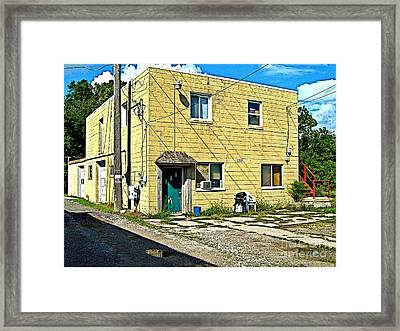 Upstairs Apartment For Rent Framed Print