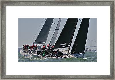Upwind On The Bay Framed Print by Steven Lapkin