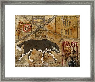 Urban Dog Framed Print by Judy Wood