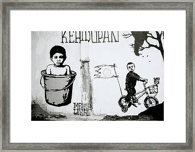 Urban Graffiti Framed Print by Shaun Higson