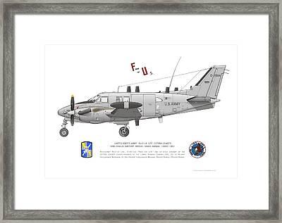 U.s. Army Ru-21a Framed Print
