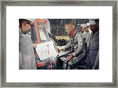 Us Astronaut John Glenn Framed Print