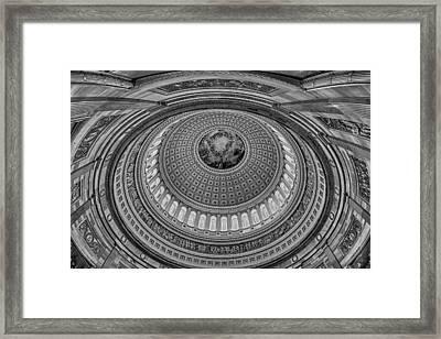 Us Capitol Rotunda Framed Print by Susan Candelario