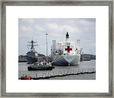 Us Naval Hospital Ship Comfort Framed Print